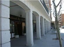 Blanco Alba Granite Arches Metallic Structure Arcades Covered with Granite Cladding