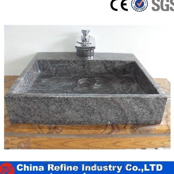Cheaper Grey Granite Square Basin Square Bathroom Stone Sink Hotel Project Square Countertop Square Basin Sink Bathroom Sinks Rectangle Basins From China Stonecontact Com