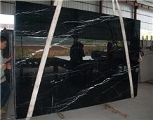 Black Marquina Marble Polished Big Slabs