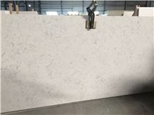 Middle Flower White Quartz Slabs, Engineered Stone