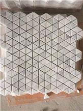 White Carrara Mosaic Flooring Tiles