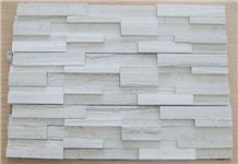 White Wooden Cultural Stone Wall Panel
