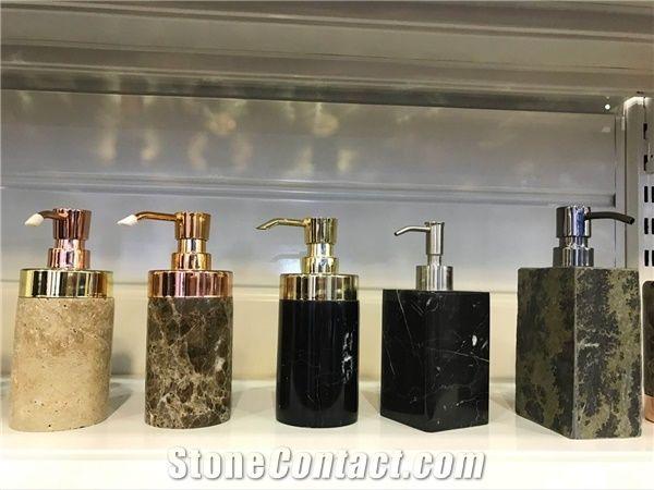 Black Marble Bathroom Accessories,Polished Marble Bath