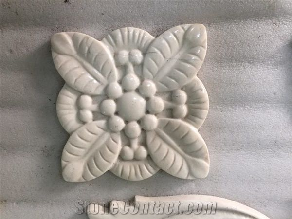 Handicraft carving interior flower pattern polished home