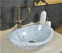 Marble White Bathroom Sinks for Rectangle Sinks