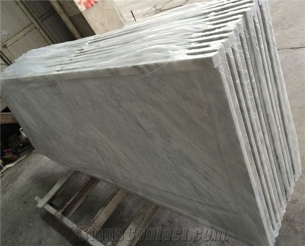 Bianco Carrara Marble Countertop Natural Polished White