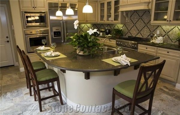 Ubatuba Countertop With White Cabinets