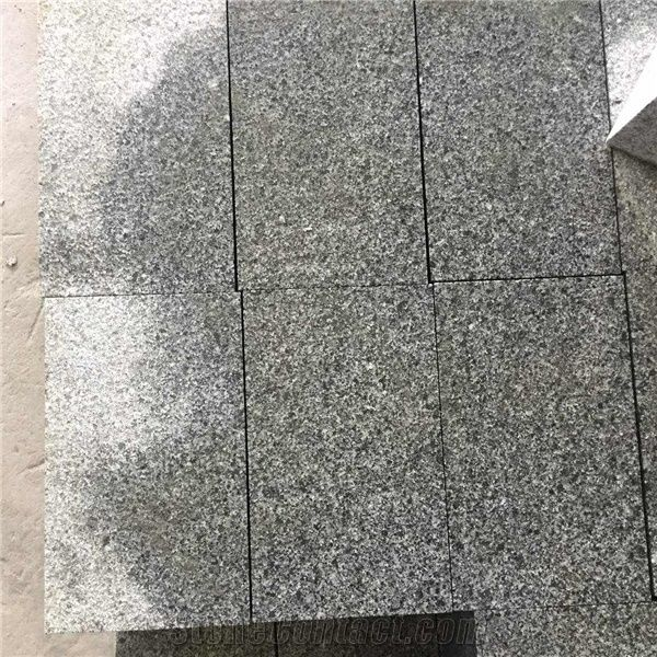 Granite Road StoneSide StoneChina G654 Stone Flooring PaversDark Grey Flamed Paving CobblesFlamed TopceOthers Sawn Cut