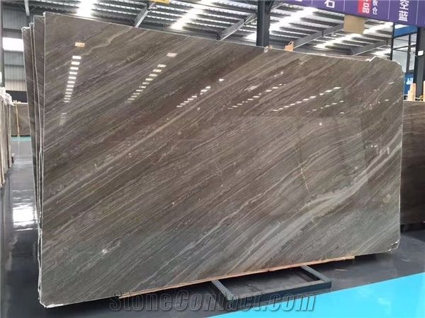 China Brown Polished Natural Stone Coffee Wood Marble