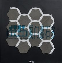Foussana Grey Limestone Mosaic-Waterjet Type