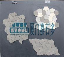 Mosaic,Waterjet,Diamond,Geometric,Wavy Line,Hexagonal,Speical,Animal,Honed,Polished,Natural,Stone,Mosaic Tile for Hotel,Kitchen,Bathroom Decoration,Grey Stone,Beige Stone