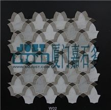 Mosaic,Waterjet,Diamond,Geometric,Wavy Line,Hexagonal,Speical,Honed,Polished,Natural,Stone,Mosaic Tile for Hotel,Kitchen,Bathroom Decoration,Grey Stone,Beige Stone,
