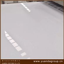 Pure White Artificial Marble Engineer Stone Slabs