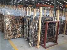 Michaelangelo, Balack Gold Black Marble Slabs & Tiles