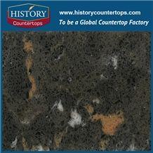 Amazon Quartz Series, Like Natural Granite Surface, Hollinsbrook,Black Big Grain,Quartz Stone Manufacturer, Made in China, Competetive Quartz Tile and Slab, Hot Selling