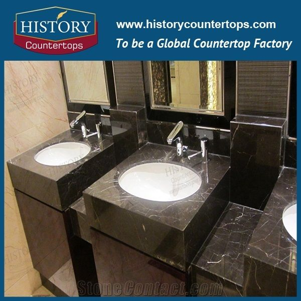 China Emperador Marble Vanity Top With Custom Size And
