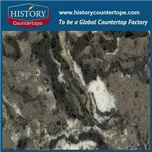 Chinese Amazon Quartz Series, Like Natural Granite Surface, Armitage,Quartz Chips and Gravel,Quartz Stone Manufacturer, Made in China,Hot Selling Black Polishing Quartz Tile and Slab