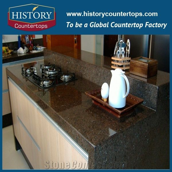 Charmant Hot Sales Brazil Cafe Imperial Granite Or Iundra Brown Granite Stone Cost  For Kitchen Countertops, Direct Factory Price With High Quality