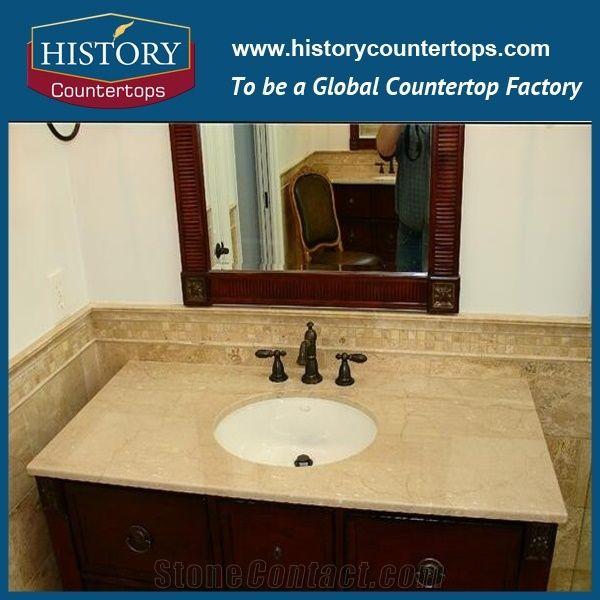 Italy botticino classico natural stone solid surface - Custom size bathroom vanity tops ...