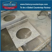Kashmir White Granite Counter Top Materials from India, Granite Polishing Solid Surface with High Quality & Cheap Good Option for Bathroom Countertops