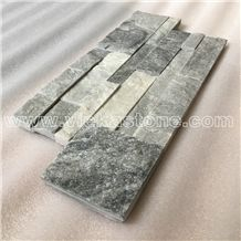 China Cloud Grey Quartzite Stacked Stone Veneer Wall Panel Cladding Panel Ledge Stone Split Face Tile Landscaping Interior & Exterior Culture Stone 35x18cm