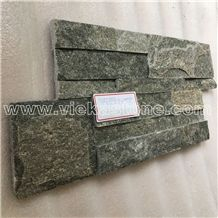 China Grey Quartzite Stacked Stone Veneer Wall Cladding Ledge Stone Panel Split Face Tile Landscaping Interior & Exterior Feature Wall Culture Stone 35x18cm