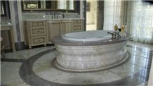Light Green Onyx Bath Tub Surround, Design