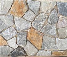 Yellow Brown Loose Random Stone Flat with Corner