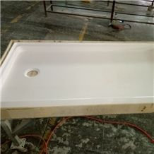Cultured Artificial Marble Shower Wall Panel, Shower Surround, Tub Surround
