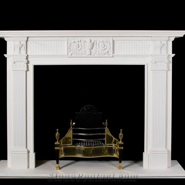 White Cultured Marble Fire Place, Is Marble Good For Fireplace Surround