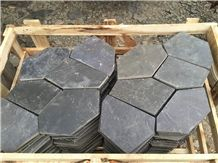 Black Quartzite, Black Quartzite Flagstone, Cobble Stone, Flagstone Road Paving Stone