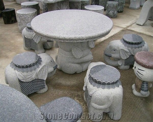 Outstanding Cartoon Design White Granite Outdoor Garden Stone Round Gmtry Best Dining Table And Chair Ideas Images Gmtryco