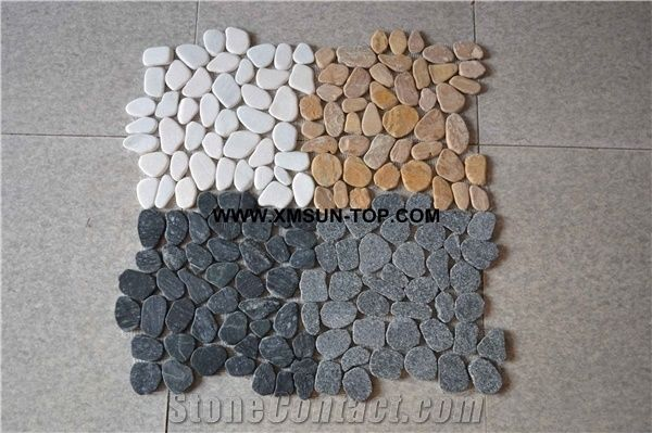 River Stone Mosaic For Wall CoveringFlooring Pebble BathroomKitchen Interior Decoration Floor