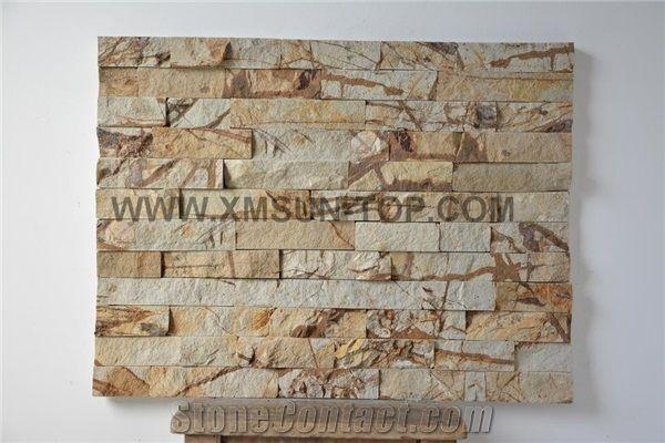 Wood Grain Sandstone Cultured Stone Wooden Veins Ledge Stone