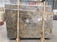 Golden Tundra Spider Marble, Grey Turkish Marble Tiles & Slabs, Golden Grey Tiles, Gold Gray Marble