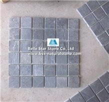 Black Riven Slate Mosaic,Charcoal Grey Split Face Slate Wall Mosaic,Carbon Black Slate Floor Mosaic,Black Slate Mosaic Pattern,Natural Stone Mosaic,Black Slate Mosaic Tiles,Split Face Mosaic