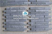 Black Riven Slate Mosaic,Charcoal Grey Split Face Slate Wall Mosaic,Carbon Black Slate Floor Mosaic,Slate Stone Mosaic,Black Mosaic Tiles,Slate Mosaic Pattern,Brick Slate Mosaic,Slim Slate Mosaic