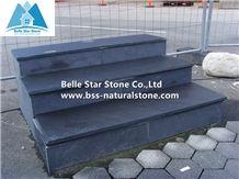 Black Slate Steps,Charcoal Grey Slate Staircase,Carbon Black Slate Staircase,Black Split Face Slate Stair Riser,Slate Stone Stair Treads