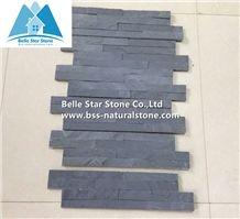 Black Split Face Slate Culture Stone,Slate Brick Stone Panel,Charcoal Grey Riven Slate Stacked Stone,Natural Thin Stone Veneer,Black Slate Ledgestone,Slate Ledger Panels,Natural Ledger Panels