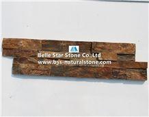 China Multicolor Riven Slate Culture Stone,Rusty Split Face Slate Stacked Stone,Copper Rust Slate Ledgestone,Autumn Rose Slate Stone Veneer,Multicolour Slate Z Clad Stone Cladding,Sunset Ledgestone