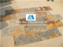 Chinese Multicolor Riven Slate Tiles,Rusty Split Face Slate Floor Tiles,Copper Rust Slate Paving Stone,Sunset Slate Pavers,Autumn Rose Slate Patio Stones,Multicolour Slate Stone Flooring,Rusty Patio