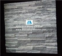 Cloudy Grey Quartzite Mini Stacked Stone,Silver Clouds Quartzite Waterfall Shape Ledgestone,Gray Clouds Quartzite Waterfall Culture Stone,Natural Thin Stone Veneer,Clouds Stone Wall Panels,Stone Clad