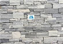 Cloudy Grey Quartzite Stone Cladding with Steel Wire Back,Silver Clouds Quartzite Culture Stone,Grey Cloud Stacked Stone,Natural Clouds Quartzite Ledgestone,Real Stone Veneer,Thick Stone Panel