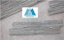 Dark Rust Split Face Slate Mini Stacked Stone,Iron Color Split Face Slate Waterfall Shape Ledgestone,Gray Rust Mini Thin Stone Veneer,Natural Stone Mini Wall Panel,Landscaping Mini Stone Cladding