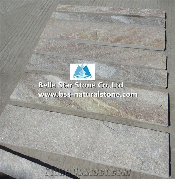Tiles Golden Wood Quartzite Floor