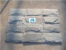 Grey Slate Mushroom Stones,Split Face Slate Mushroom Wall Cladding,P013 Mushroom Stone Tiles,Grey Pillar Mushroom Wall,Grey Split Face Slate Mushroom Landscaping Stones,Garden Wall Stone,Pillar Wall