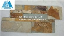 Multicolour Riven Slate S Clad Stacked Stone,Rusty Split Face Slate Culture Stone,Copper Rust Slate Thin Stone Veneer,Sunset Slate Ledgestone Panels,Autumn Rose Stone Cladding,Natural Stone Wall Panel