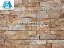 Oyster Slate Stacked Stone,Gold White Quartzite Ledgestone Panels,Guarantee Quality Yellow Quartzite Z Clad Stone Cladding,Fireplace Natural Stone Veneer,Outdoor Porches Stone Panel