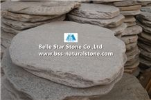 Oyster Split Face Quartzite Round Stepping Stones,Silver Sunset Quartzite Paving Sets,Natural Stone Garden Stepping Pavements,Ivory Patio Pavers,Oyster Slate Walkway Pavers,Courtyard Pavers