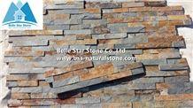 Rusty Split Face Slate Stacked Stone,Multicolor Slate Ledger Panels,Autumn Rose Stone Panel,Copper Rust Slate Thin Stone Veneer,Sunset Slate Z Clad Culture Stone,Multicolour Slate Wall
